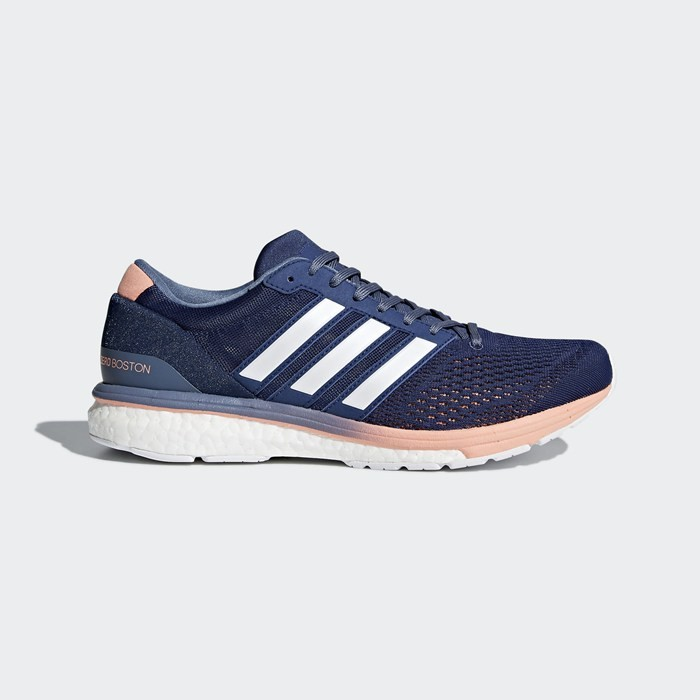 Adidas adizero Boston 6 Shoes Women's Running Blue BB6418