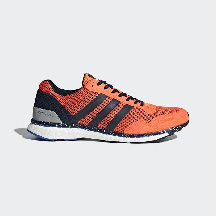 Adidas Adizero Adios 3 Shoes Men's Running Orange BB6437