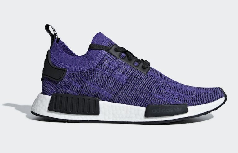 Adidas NMD R1 Primeknit Shoes Purple B37627