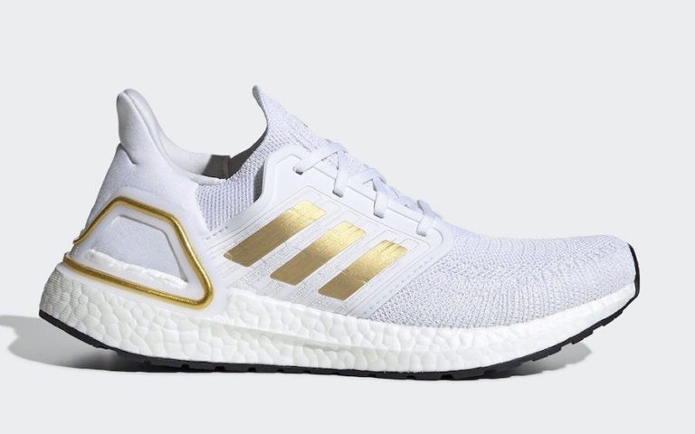 adidas Ultra Boost 2020 Footwear White/Gold Metallic-Core Black EG0727