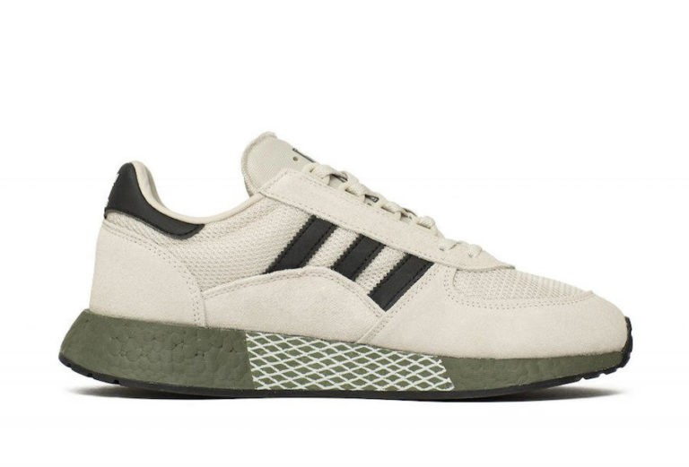 adidas Marathon Tech White/Core Black-Raw Khaki EE4922