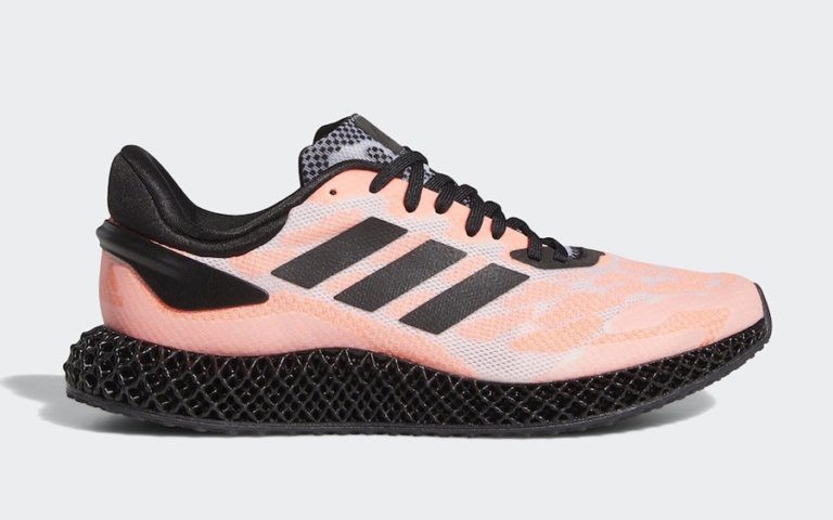 adidas 4D Run Black/Footwear White-Signal Coral FW6839