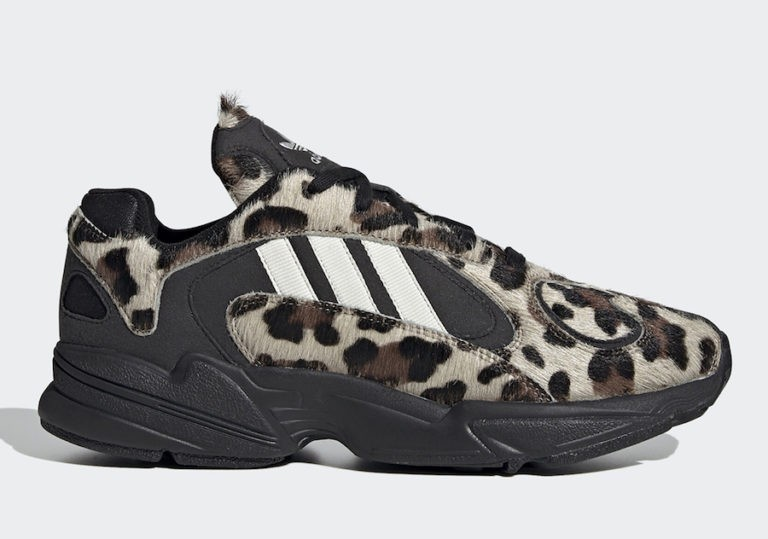 "adidas Yung-1 ""Leopard"" Black/Off-White-Simple Brown EG8726"