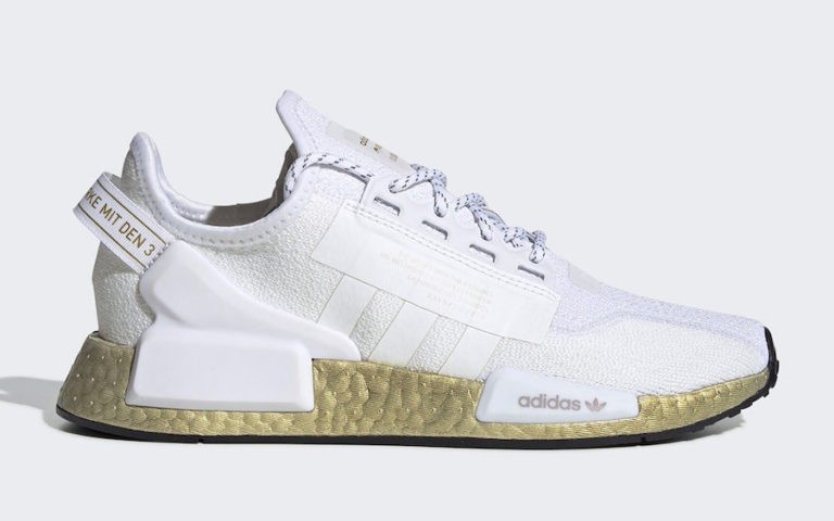 adidas NMD V2 Footwear White/Gold Metallic FW5450