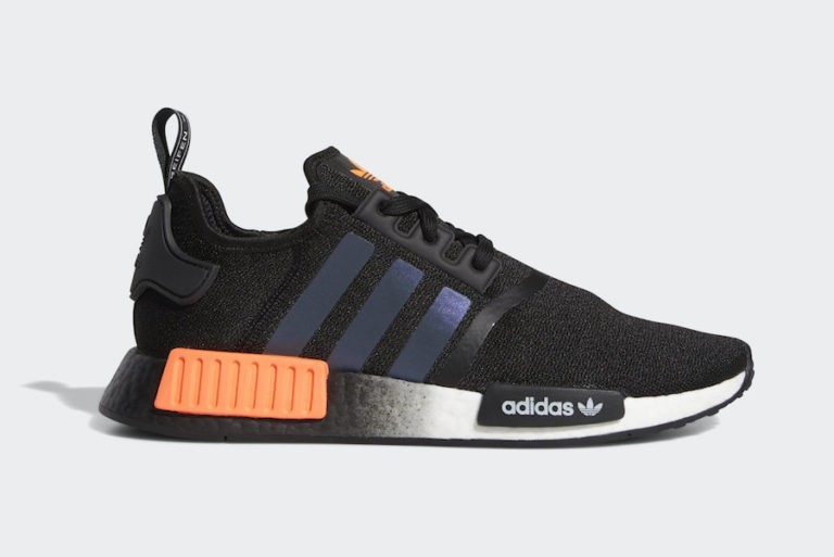 adidas NMD R1 Core Black/Solar Orange-Cloud White FW0185