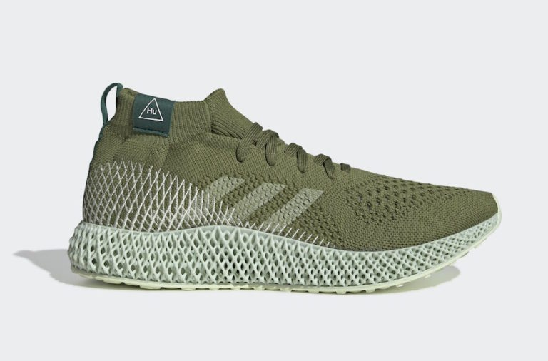 Pharrell Williams x adidas 4D Tech Olive/Running White-Collegiate Green FV6334