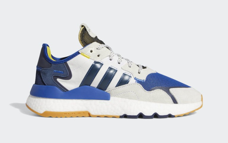 "Ninja x adidas Nite Jogger ""Time In"" Core White/Collegiate Navy-Collegiate Royal FV6404"