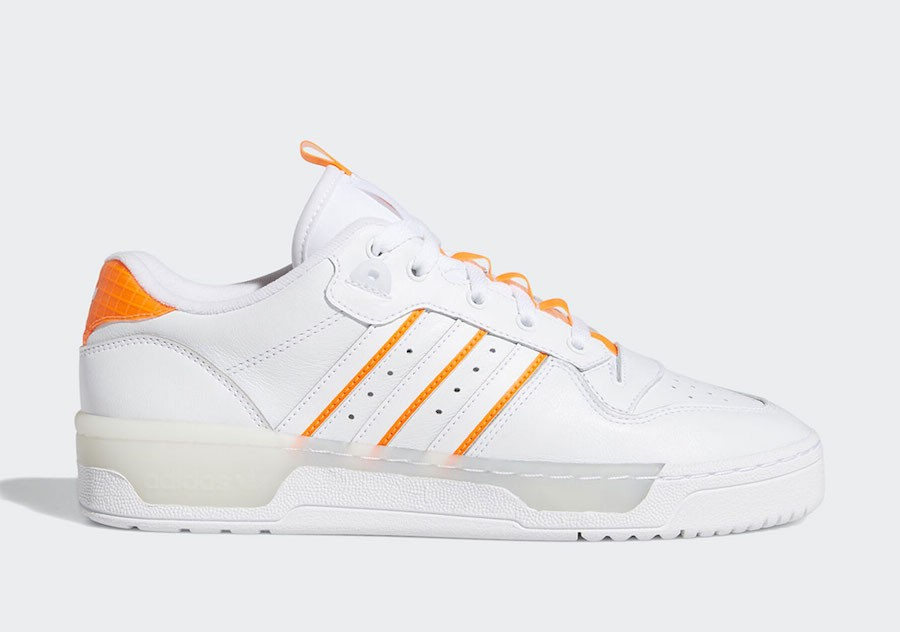 adidas Rivalry Low White Solar Orange EE4965