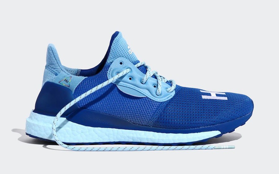 Pharrell x Solar Hu Glide 'Power Blue' - adidas - EF2377