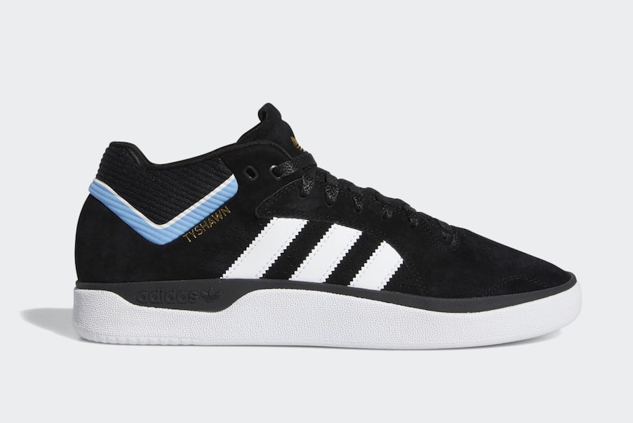 adidas Tyshawn Black White Blue EE6076
