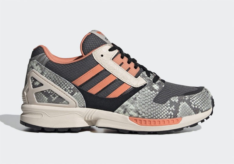 adidas ZX 8000 Lethal Nights Grey Orange FW9783