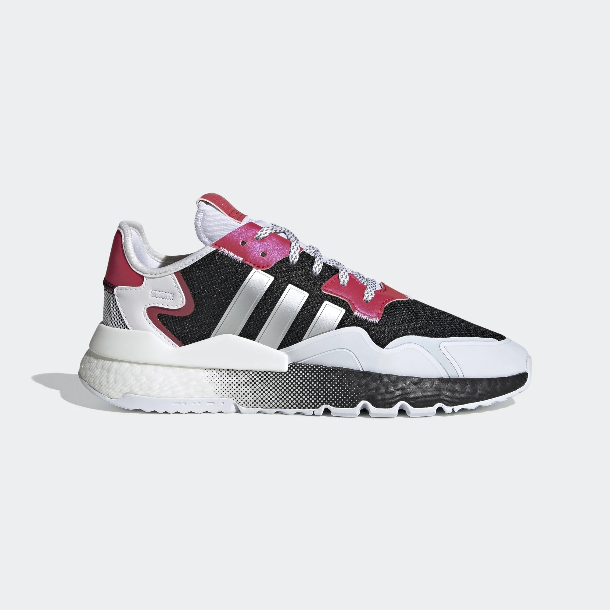 adidas Originals Nite Jogger BOOST Black Silver White Red EF5402