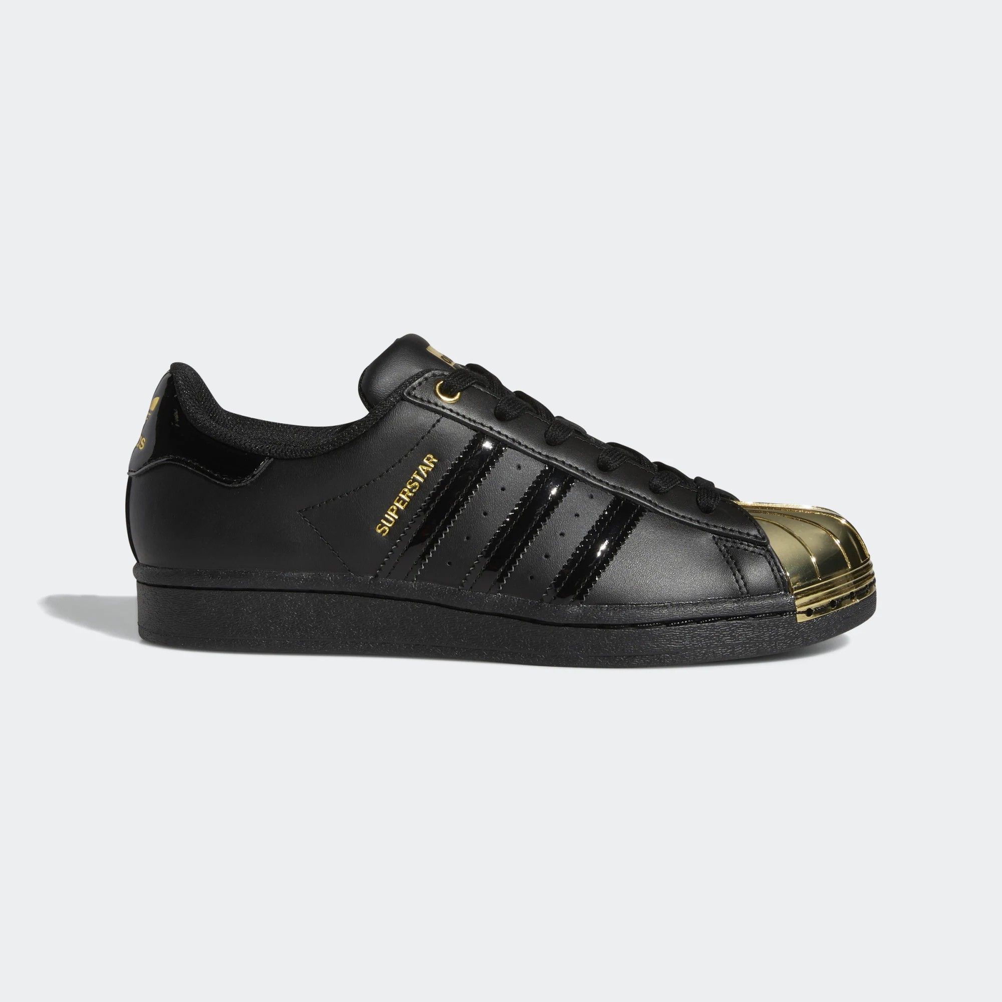 Wmns Superstar Metal Toe 'Black Gold Metallic' FV3305