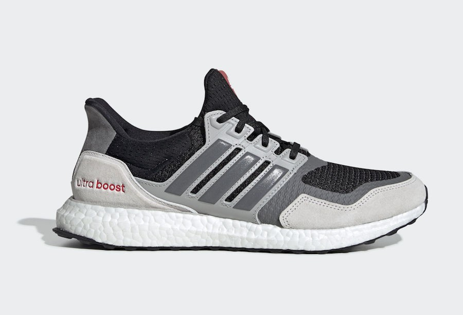 adidas Ultra Boost S&L Black Grey Shock Red EF0720