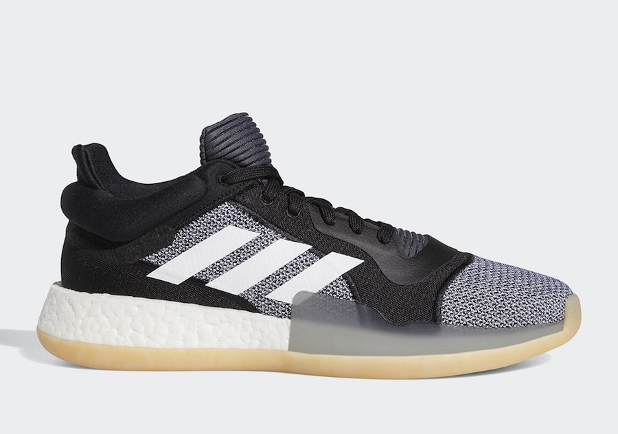 adidas Marquee Boost Low New Black White Basketball