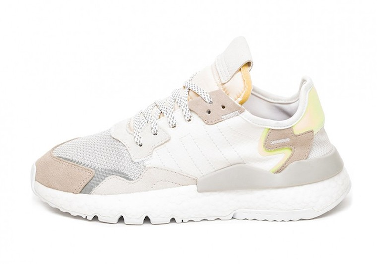 adidas Nite Jogger Women's White Yellow CG6098