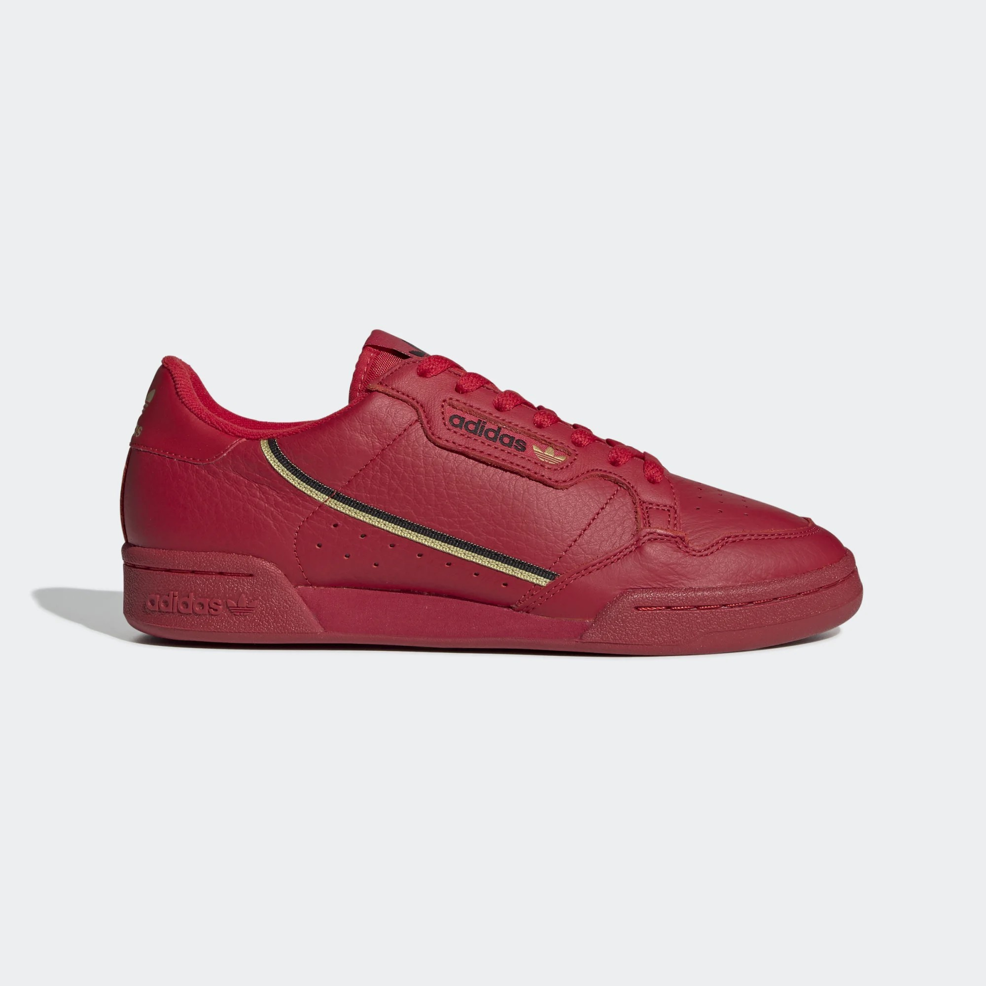 Adidas Continental 80 Scarlet Red/Gold Metallic-Core Black EE4144