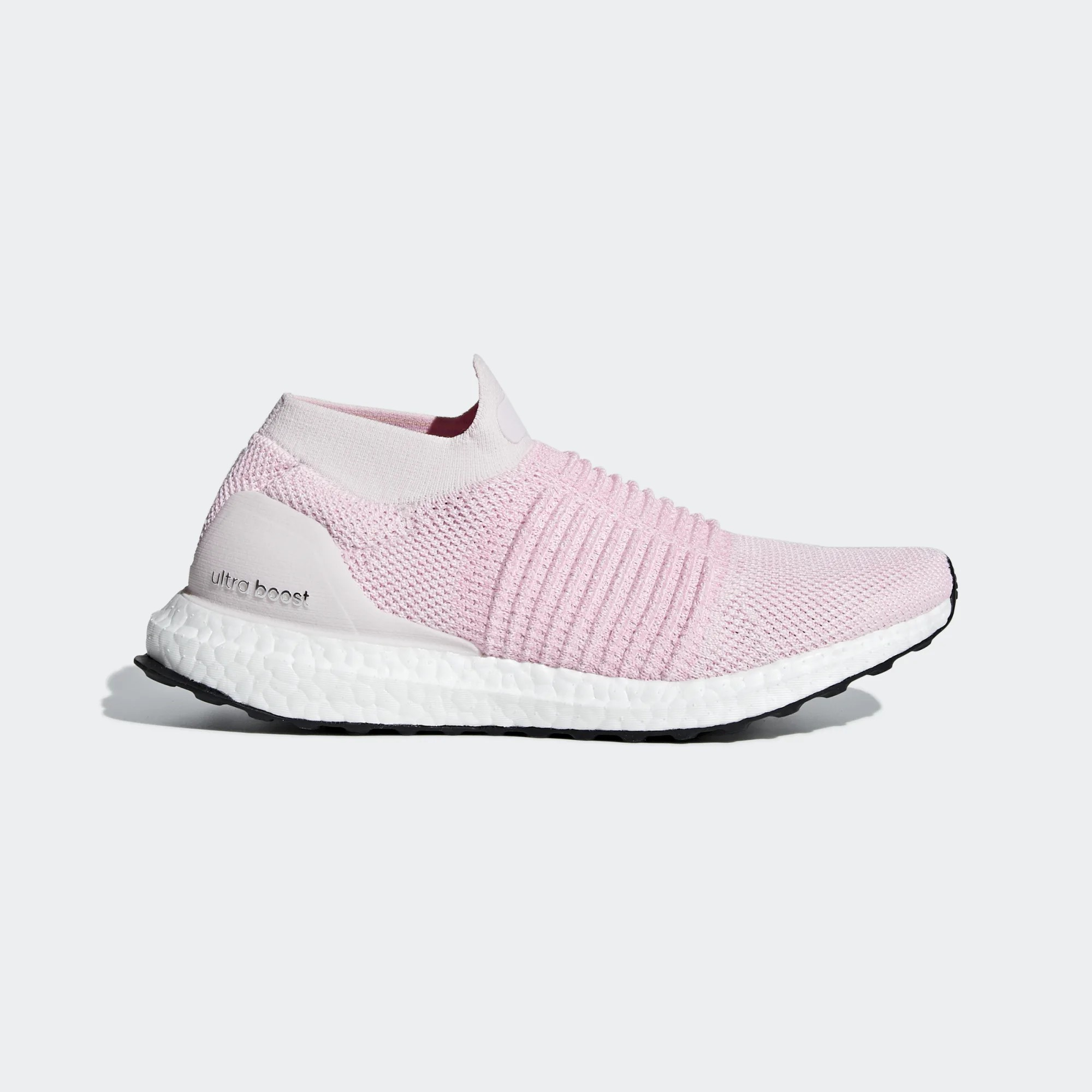 Adidas B75856 Women Ultra Boost laceless Running Shoes Pink
