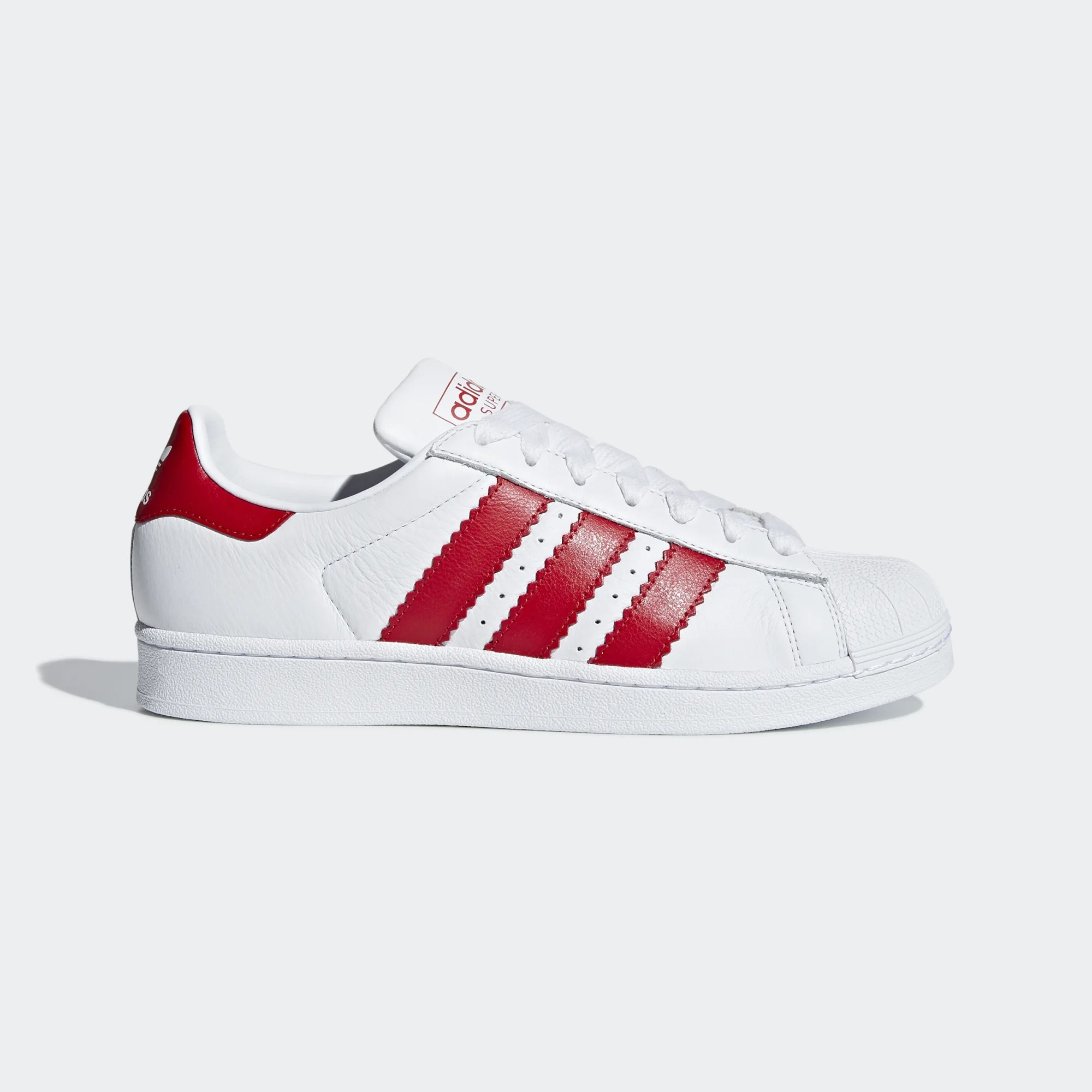 Adidas Originals Superstar White/Scarlet/White BD7370