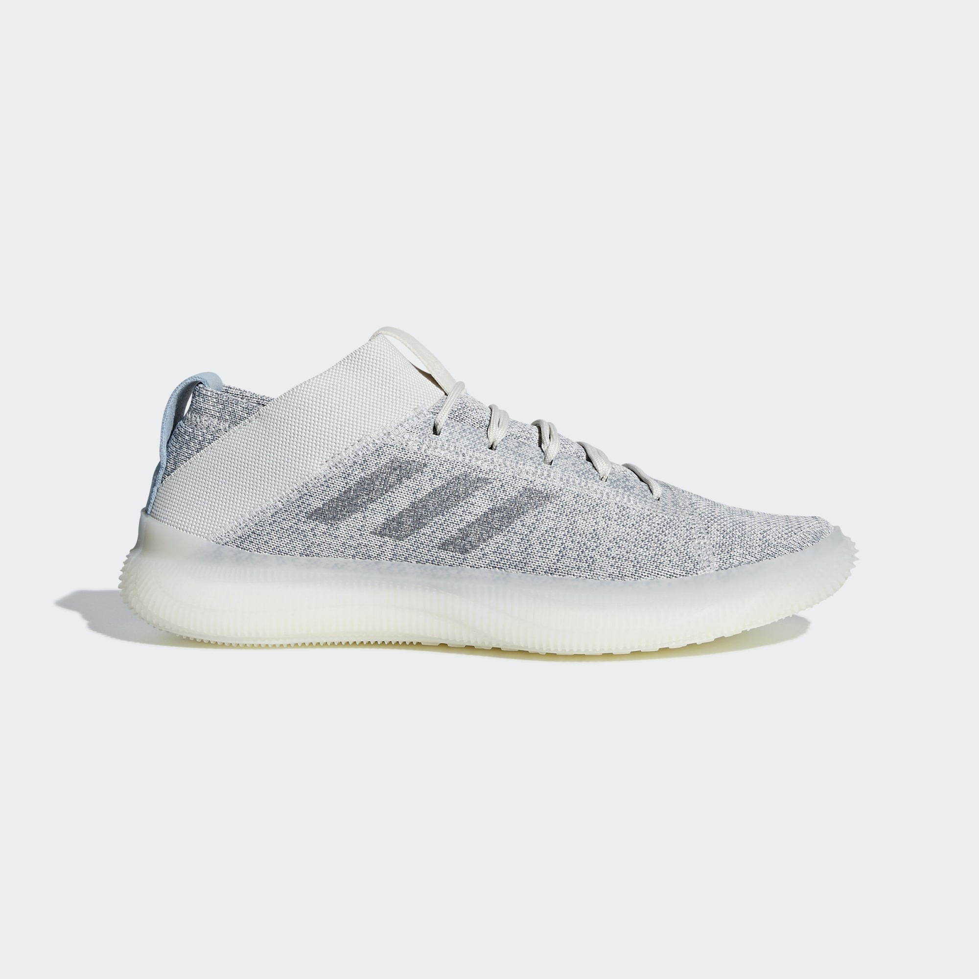 Adidas Men Pure Boost Trainer Shoes Raw White/Grey BB7212