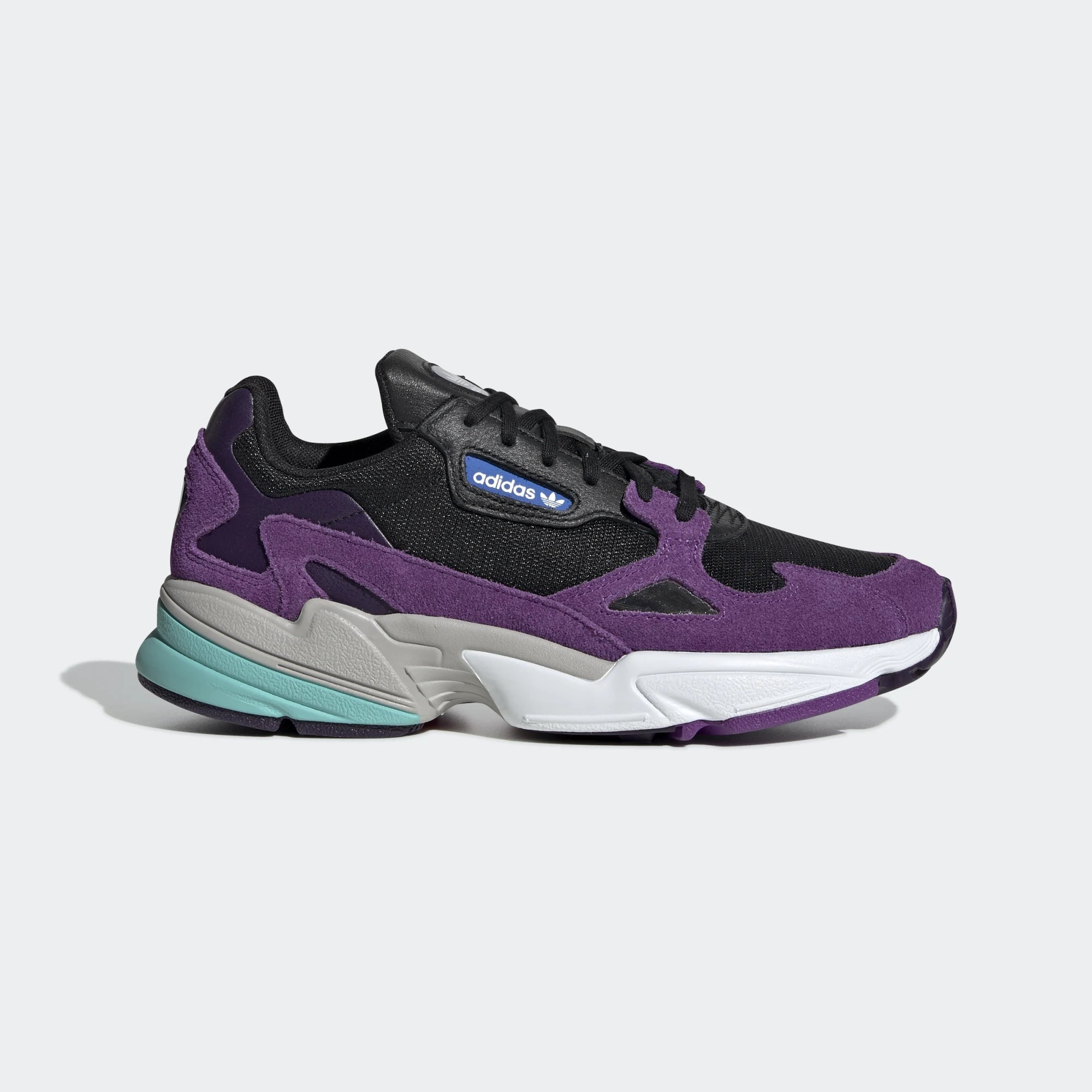 adidas Women's Falcon Core Black/Cloud White/Active Purple CG6216