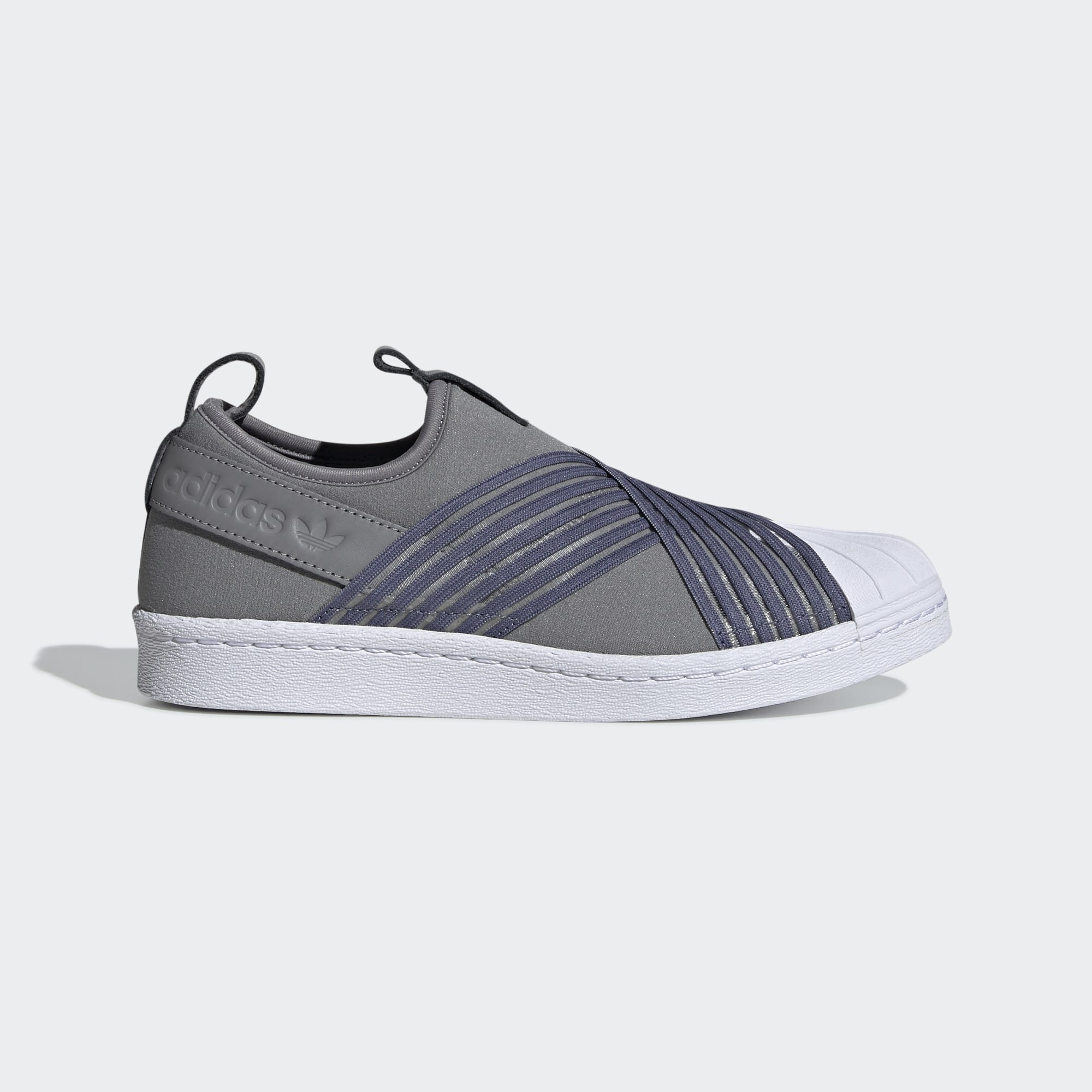 adidas Superstar Slip-On Shoes Grey CG6012