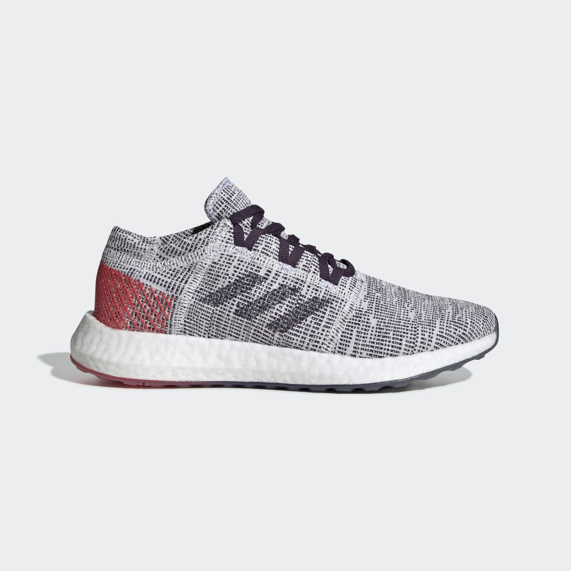 adidas Pureboost Go Shoes Women Cloud White/Legend Purple/Shock Red B75826