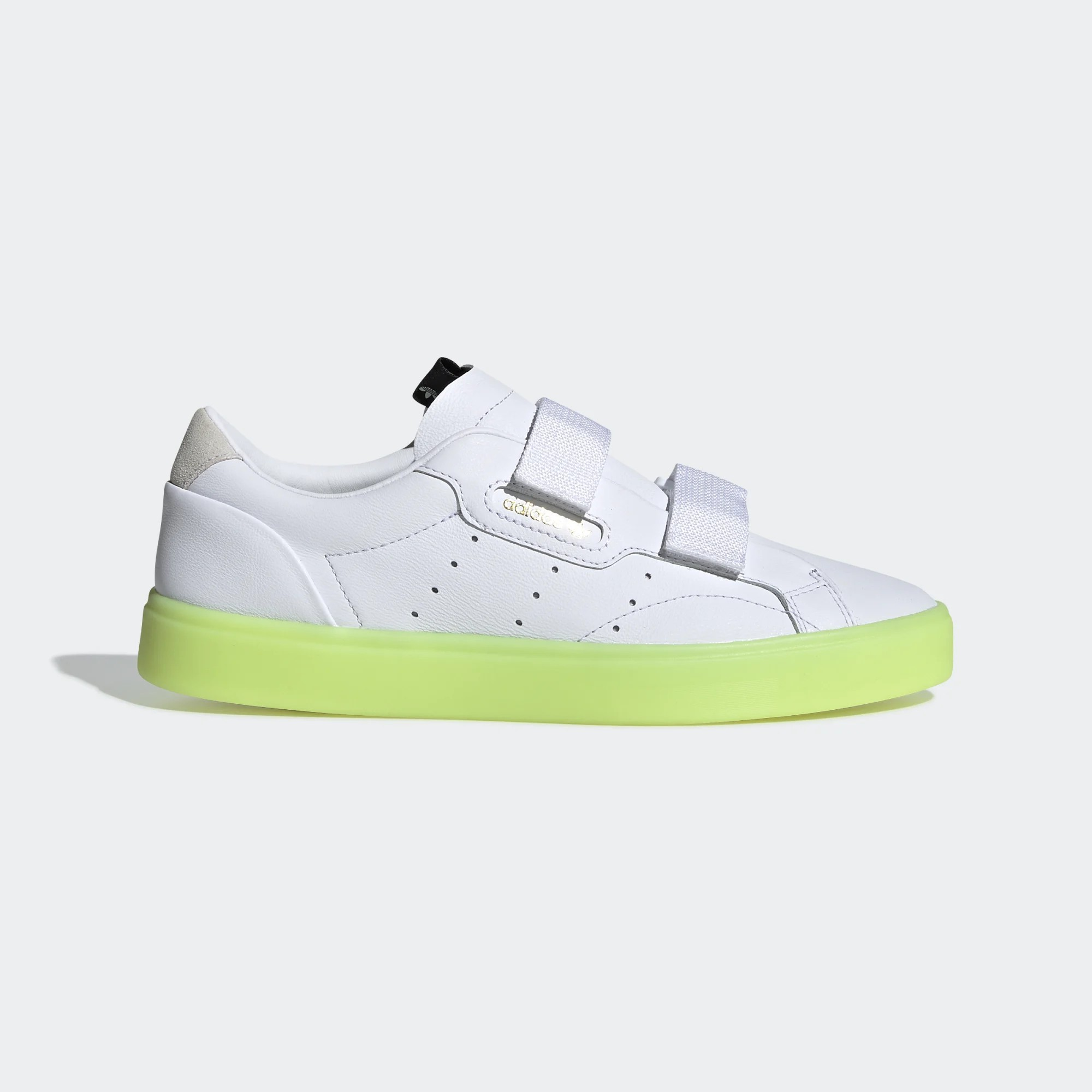Wmns Sleek Straps 'White Yellow' adidas EE8279