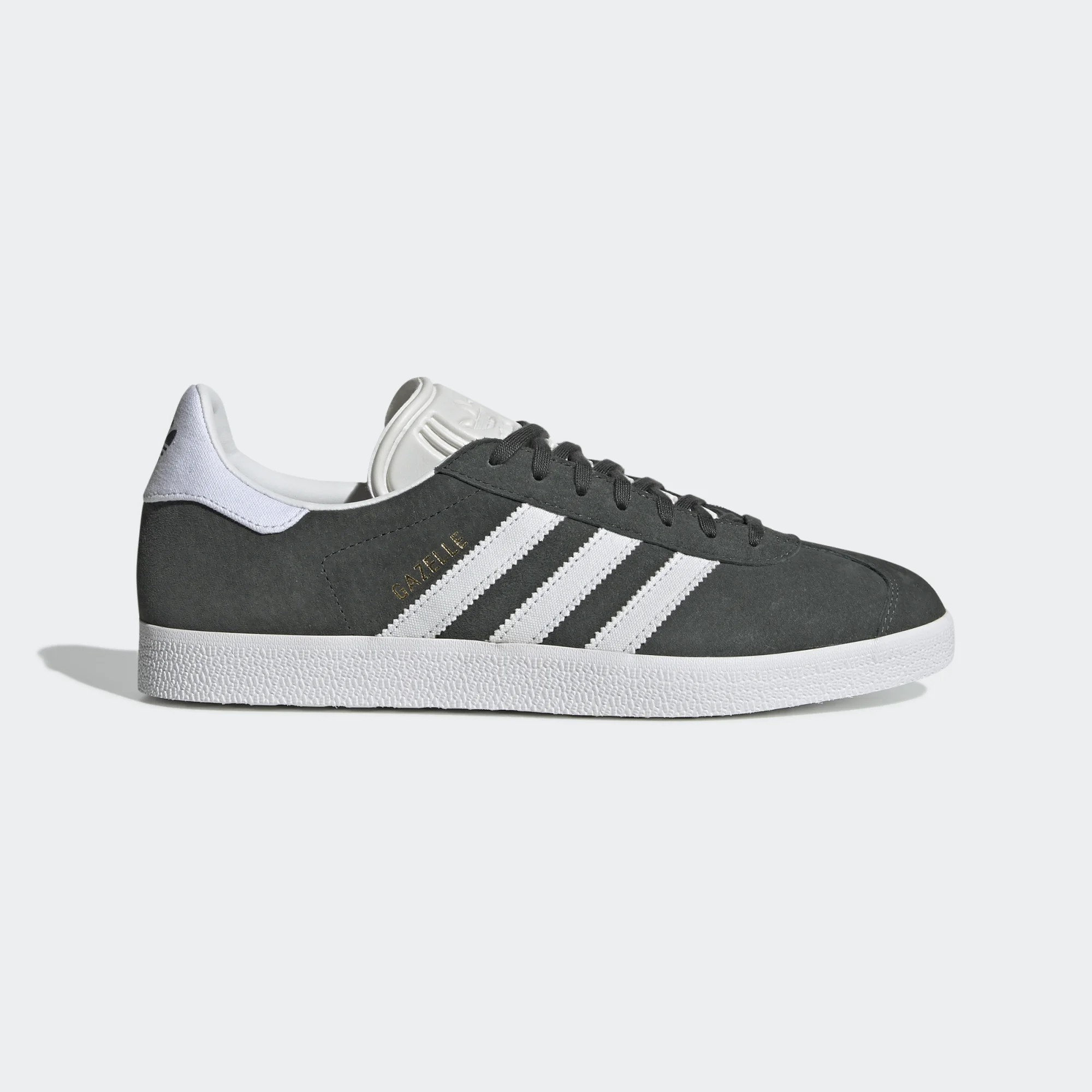 Adidas Men Gazelle Shoes Legend Ivy/Crystal White CM8469