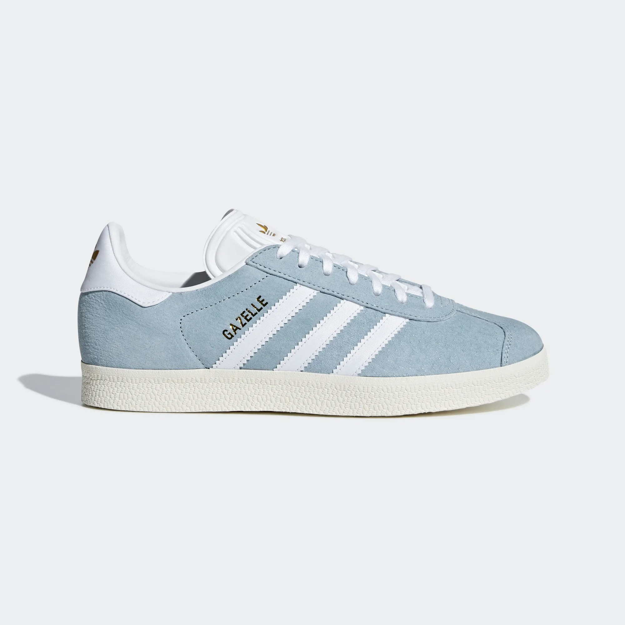 Adidas Women Gazelle Shoes Ash Blue/Cloud White CG6061
