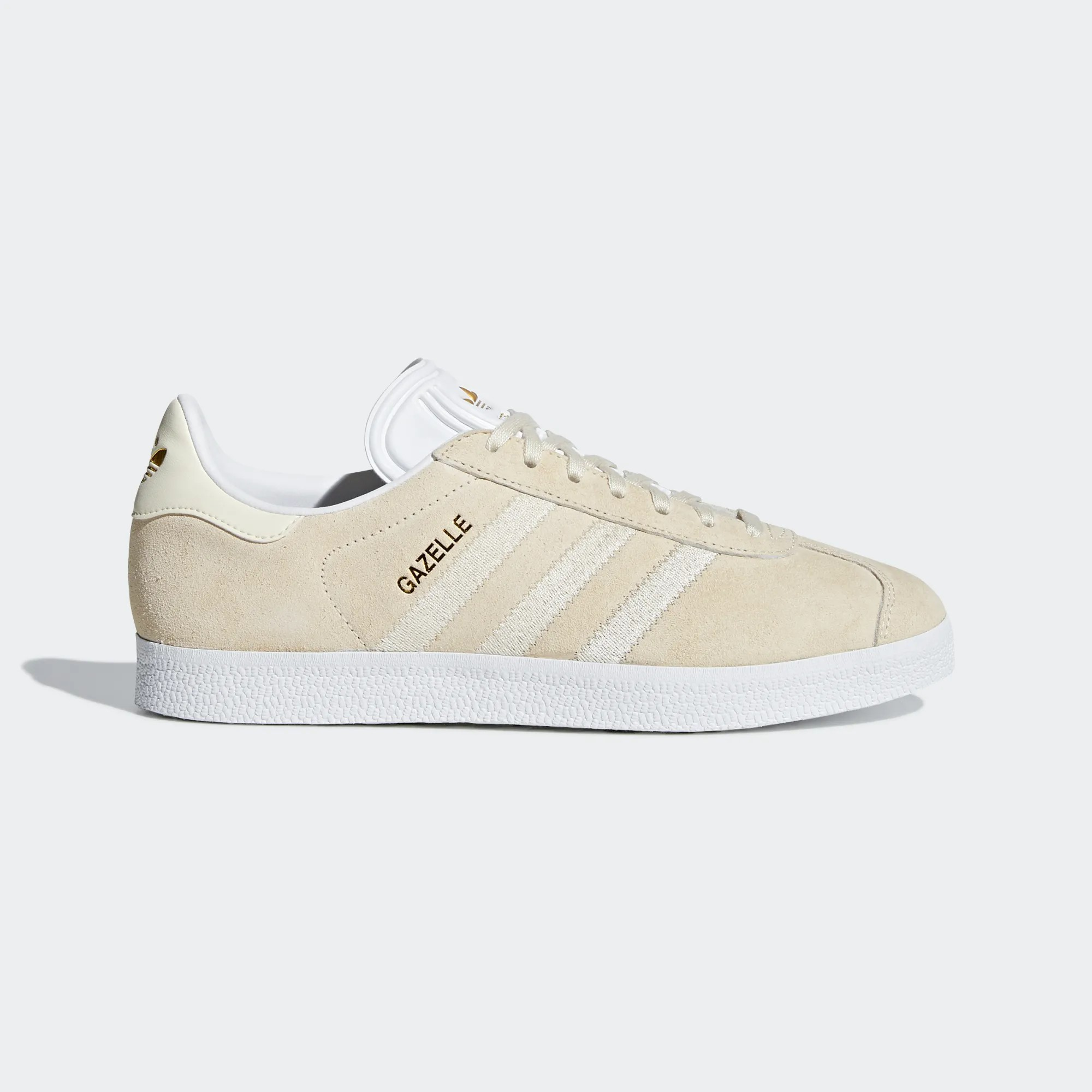 Adidas Women Gazelle Shoes Ecru Tint/Cloud White CG6055