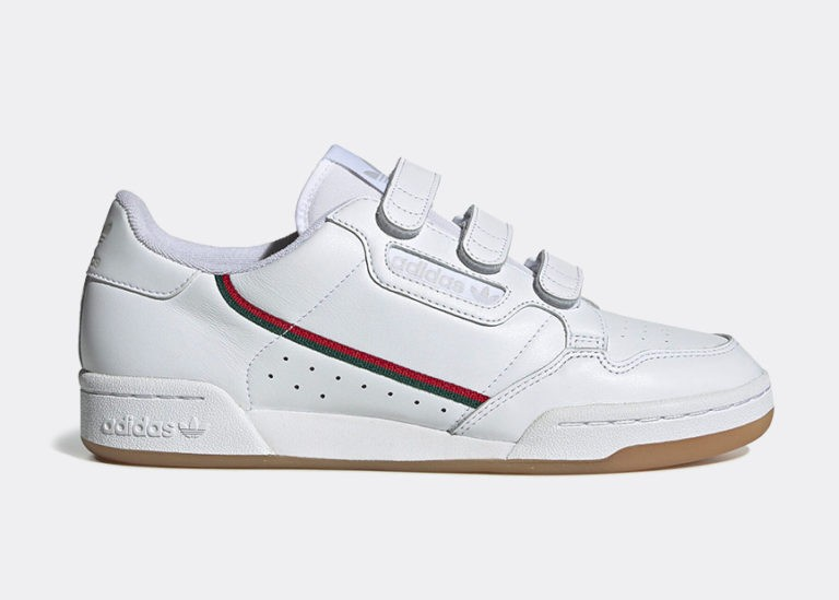 adidas Continental 80 Strap White Collegiate Green EE5359