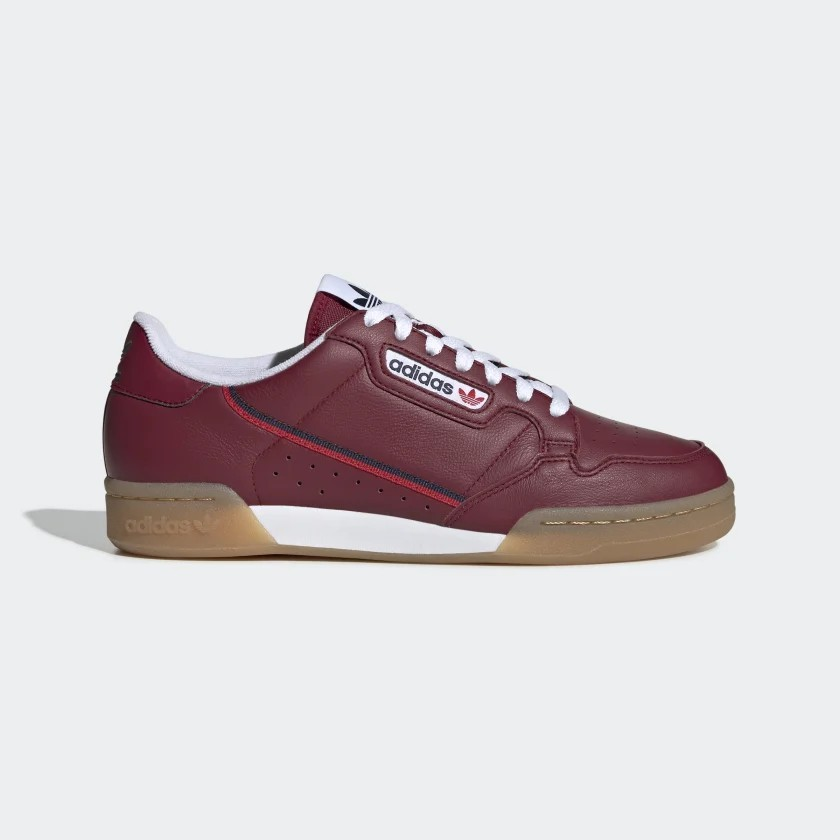 adidas Continental 80 Shoes - Burgundy EE5394