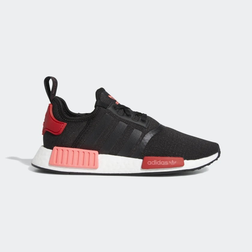 Womens Adidas NMD R1 Black/Flash Red - EH0206