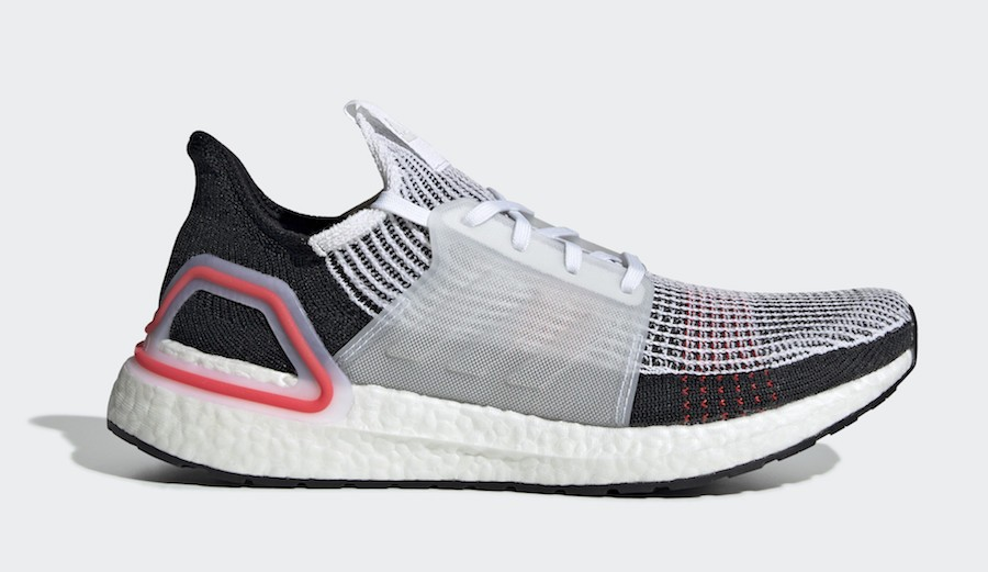 adidas Ultra Boost 2019 Cloud White Active Red - B37703