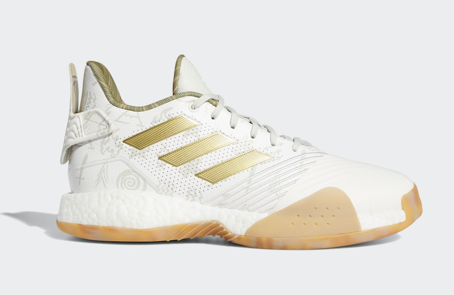 adidas T-Mac Millennium Cloud White/Gold Metallic-Cloud White G27750