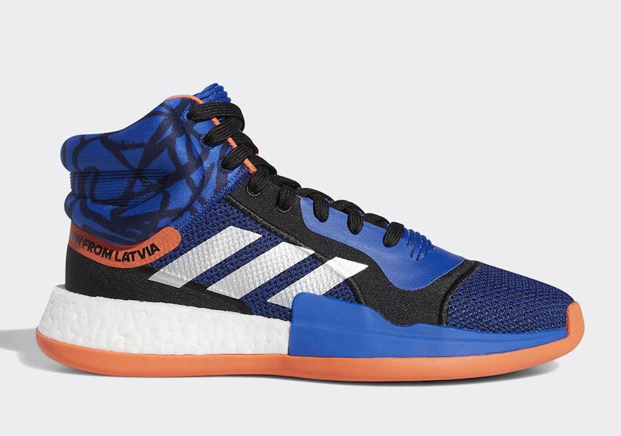"adidas Marquee Boost ""Kristaps Porzingis"" Core Royal/Core Black-True Orange G27738"