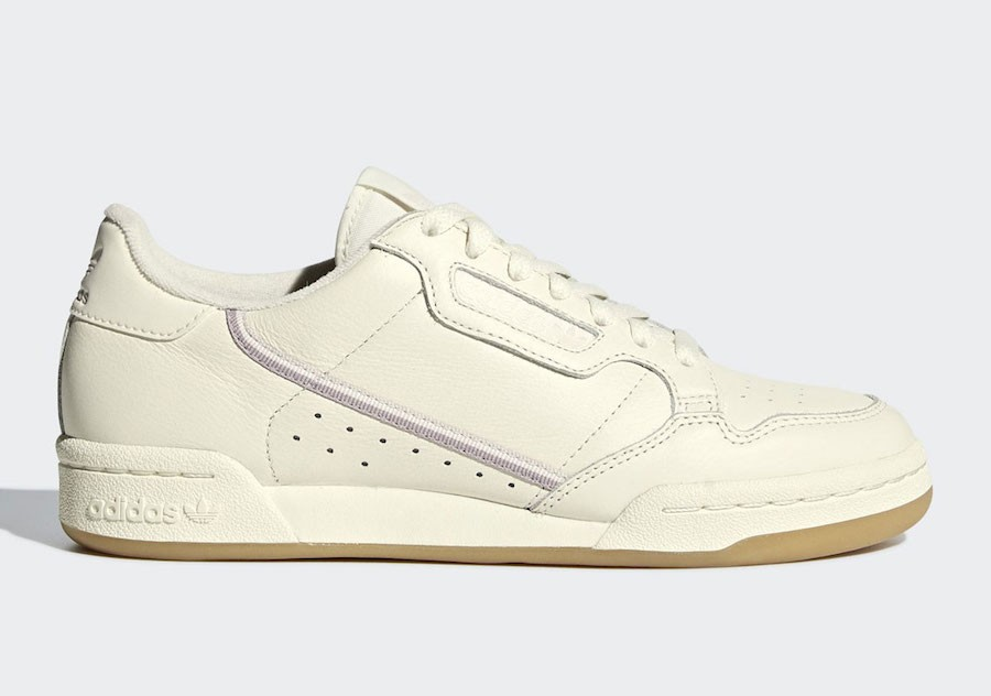 adidas Continental 80 Off White/Orchid Tint-Soft Vision G27718