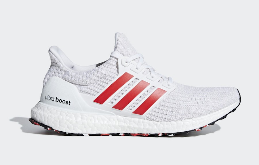 adidas Ultra Boost 4.0 Cloud White/Active Red-Chalk White DB3199