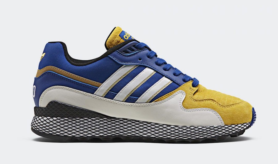 "Dragon Ball Z x adidas Ultra Tech ""Vegeta"" Running White/Collegiate Royal-Bold Gold D97054"