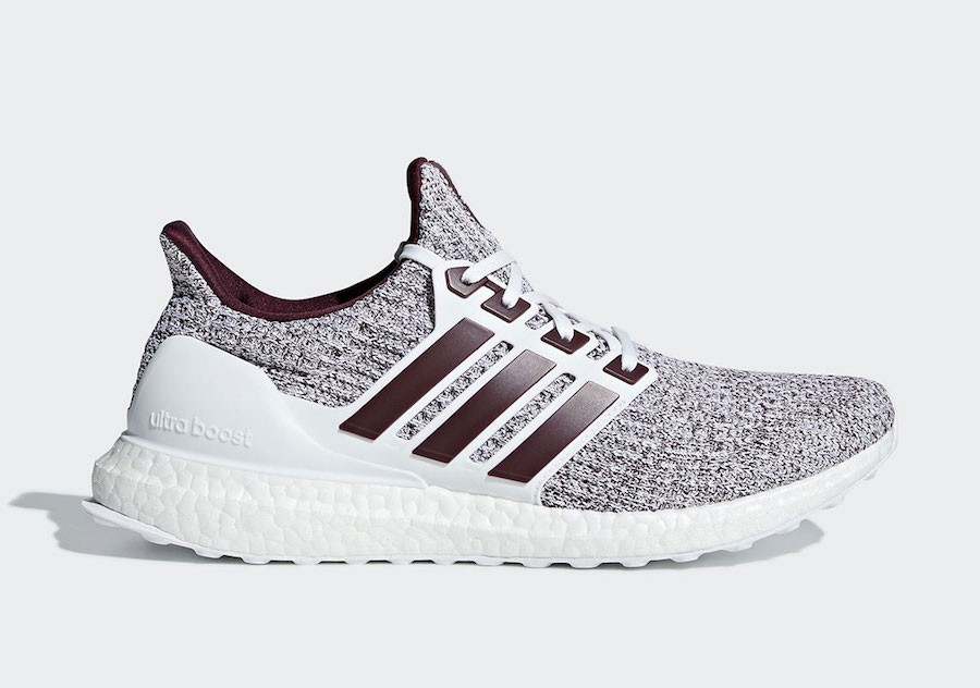 adidas Ultra Boost 4.0 White/White-Burgundy EE3705