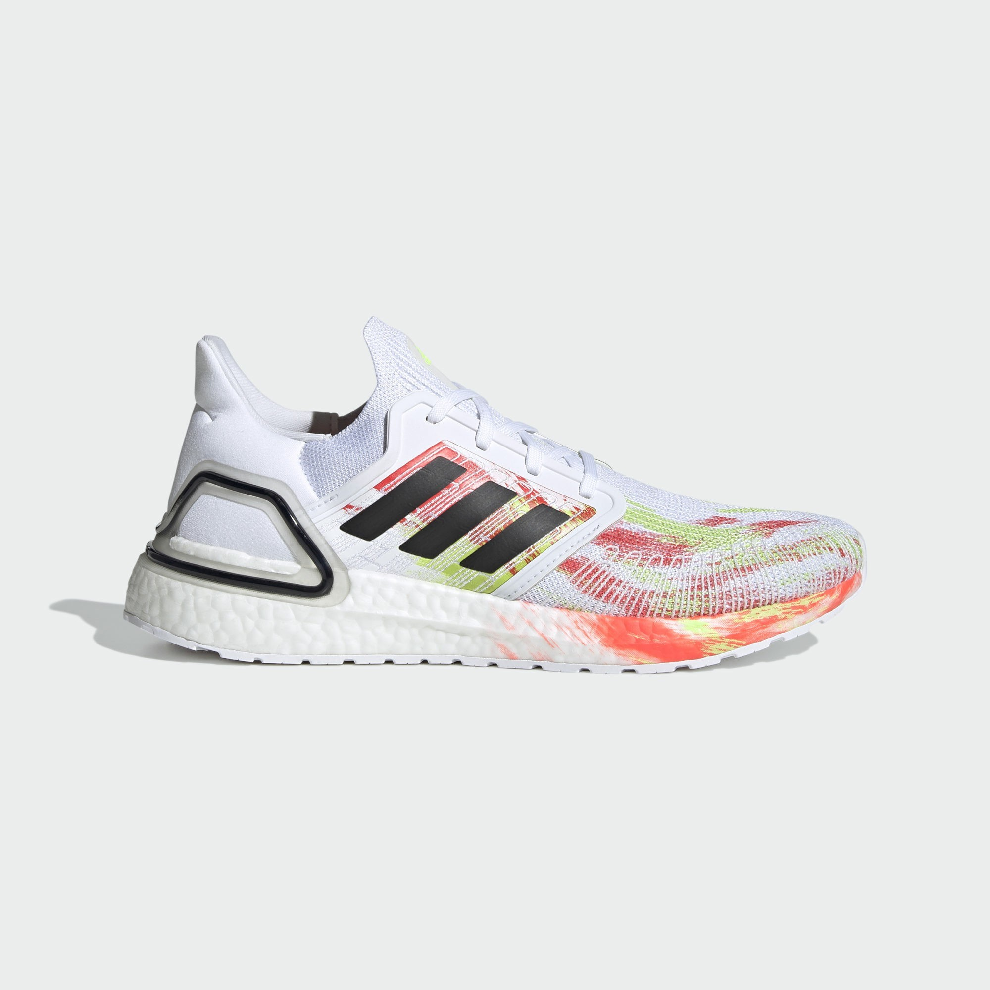 Adidas UltraBoost 20 FW8169 White/Black/Signal Green