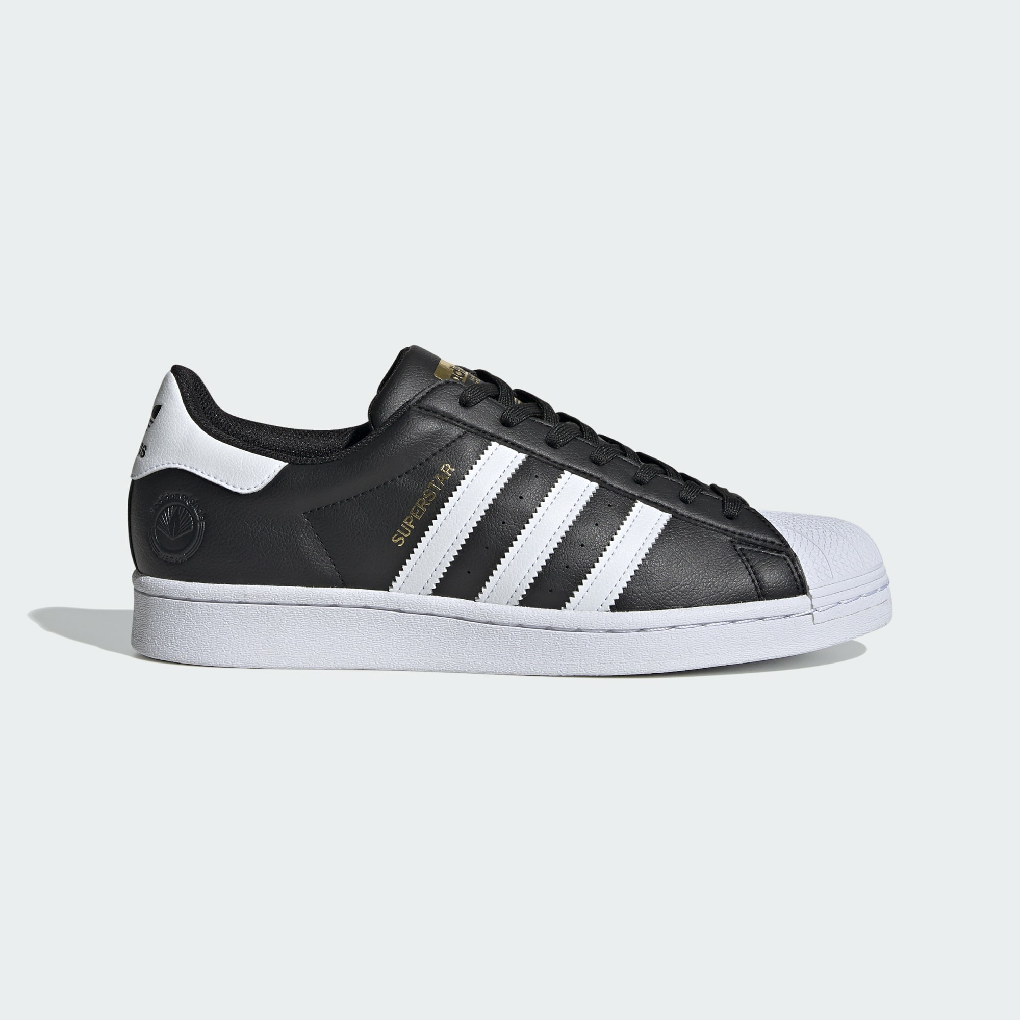 Adidas Superstar Vegan FW2296 Black/White/Gold Metallic