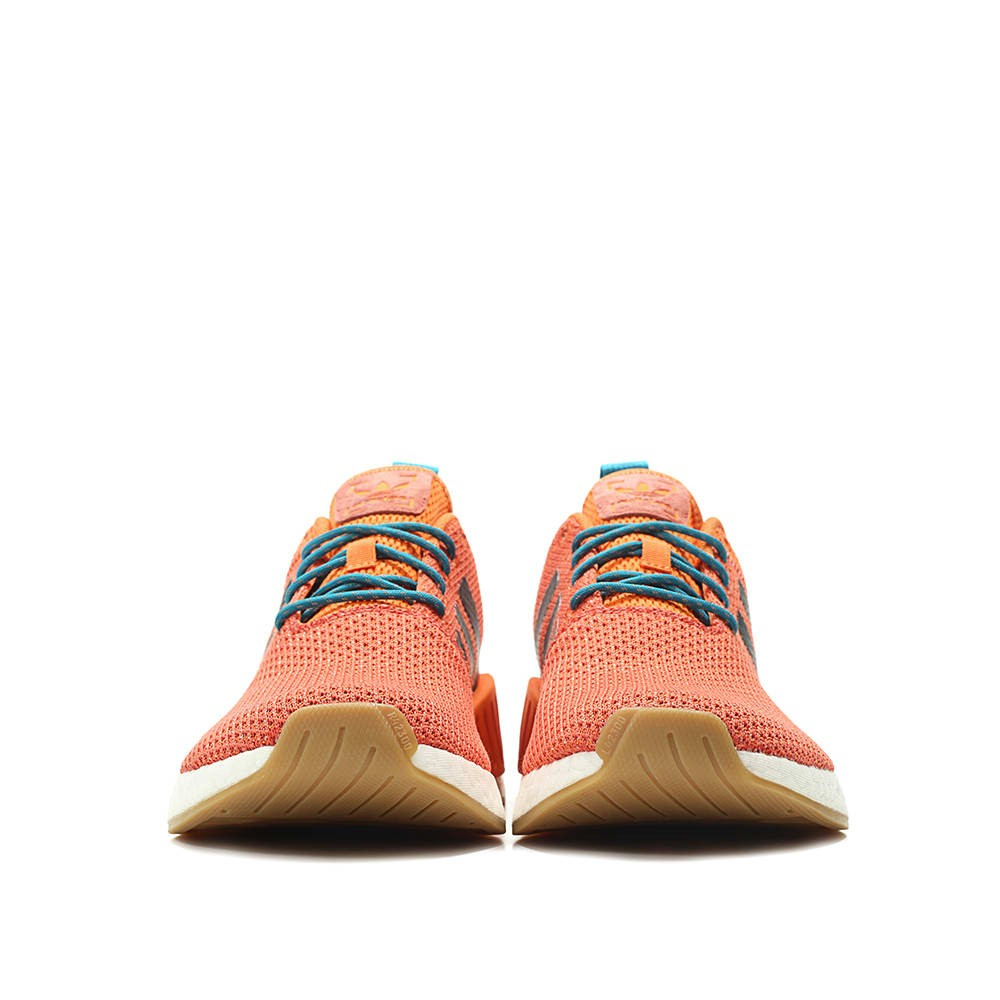 e5d76317eaed7 Adidas NMD R2 Summer Mens Trace Orange Knit Boost Running Shoes ...