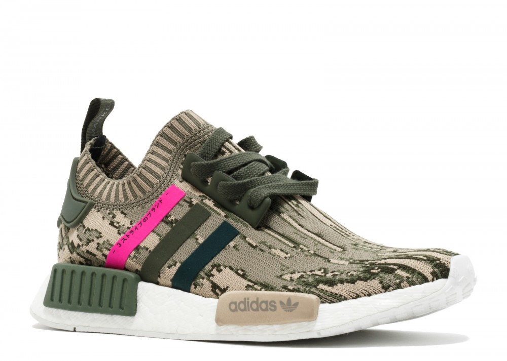 7fd276c616b7c Adidas NMD R1 PK Japan Camo Womens Green Pink Primeknit Shoes BY9864 ...