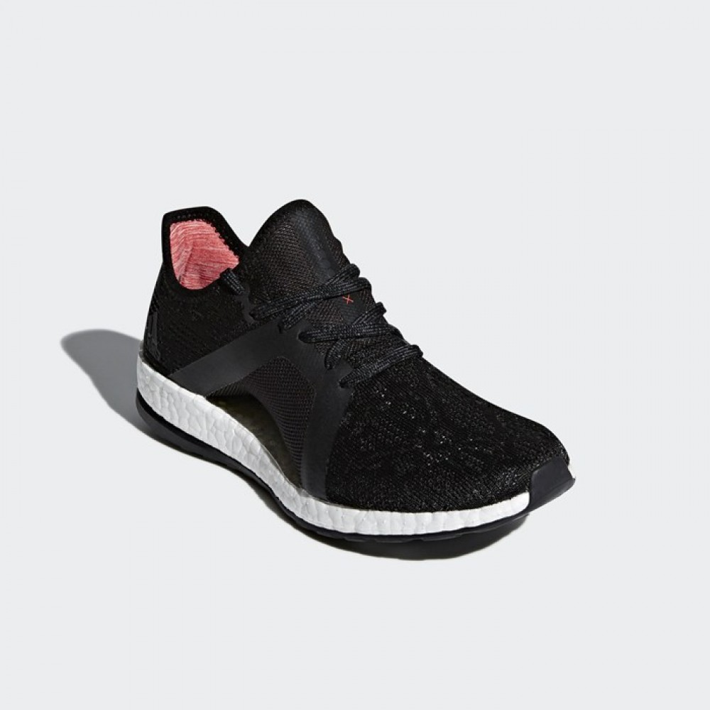 75277351102a7 Adidas PureBOOST X Element Black White Womens Running Shoes Sneakers ...