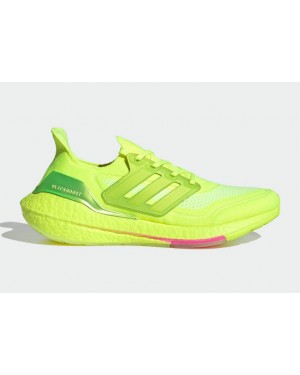 "Adidas Ultra Boost 2021 ""Solar Yellow"" Solar Yellow/Solar Yellow-Screaming Pink FY0848"