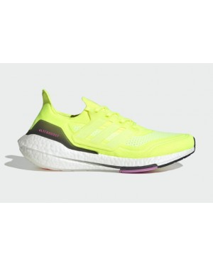 "Adidas Ultra Boost 2021 ""Solar Yellow"" Solar Yellow/Cloud White-Screaming Pink FY0373"