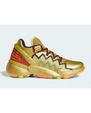 "Adidas DON Issue 2 ""Gummy Bears"" Gold Metallic/Core Black-Solar Gold FW9050"