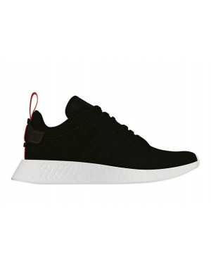 Adidas NMD R2 Boost Black White Mens Shoes CG3384